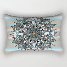 Oriental Mandala in brown&turquoise Rectangular Pillow