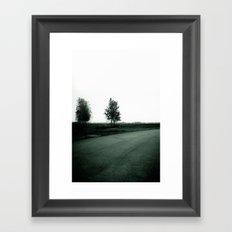 Blurry Trees Framed Art Print