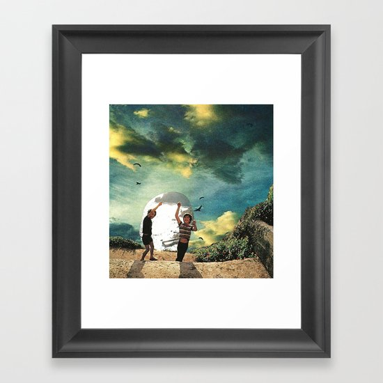 laboratory in the sky... (2) Framed Art Print