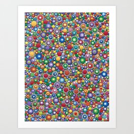 Dotted colorful by Mandalaole Art Print