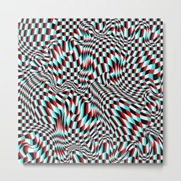TEZETA (warped 3D geometric pattern) Metal Print
