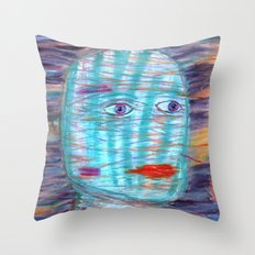 Plaid Head Throw Pillow