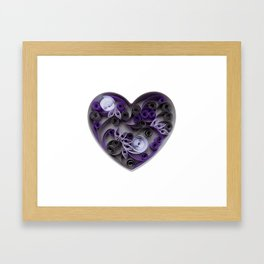 Purple Grey Love Heart Paper Quilled Colorful Heart Wedding Anniversary Gift Framed Art Print