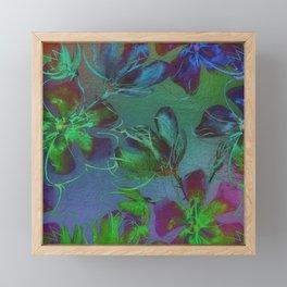 Jewel Toned Flowers Framed Mini Art Print