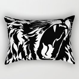 Lion Vector Illustration Rectangular Pillow