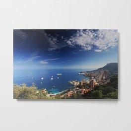 Monaco, French riviera, Sea side, Coastline, Riviera, holiday Metal Print