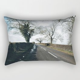winter road in Derbyshire Rectangular Pillow