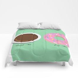 Drink Me, Eat Me Comforters