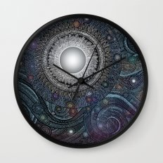 Feather Moon Wall Clock