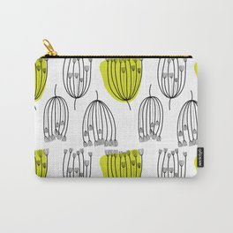 Background with dill. Seamless pattern with fennel. Black and white abstract pattern. Carry-All Pouch