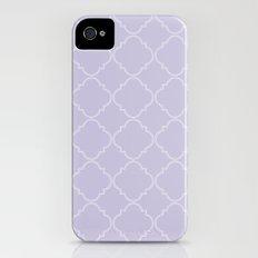 Quatrefoil - Lavender Slim Case iPhone (4, 4s)