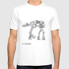 Star Wars Vehicle AT-AT Walker LARGE Mens Fitted Tee White