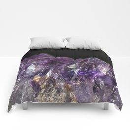 Cracked Amethyst Crystal Mountains Comforters