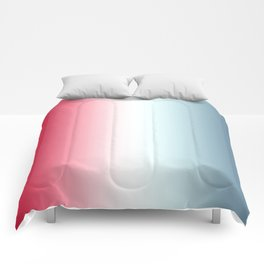 Red White Blue Gradient Comforters