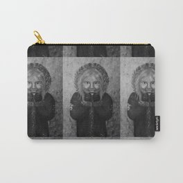 Cosy Winter by Lu, black-and-white Carry-All Pouch