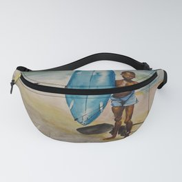 Surfing Boy in Liberia Fanny Pack