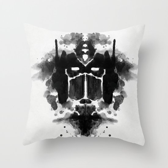 Optimust Throw Pillow