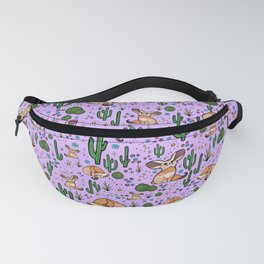 Cute Cactus and Fennec Fox Fanny Pack