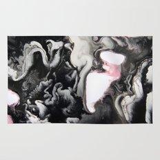 Black White Pink Rug