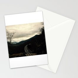 Train on the Mountain Side Stationery Cards