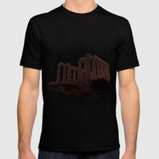 Temple of Poseidon Black Mens Fitted Tee LARGE