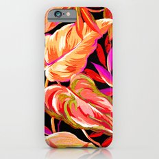 fall tropical leaves iPhone 6 Slim Case