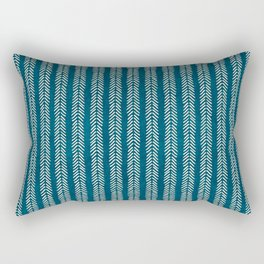 Mud cloth Teal Arrowheads Rectangular Pillow