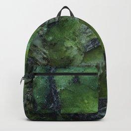 New Zealand Serpentine pounamu natural grain. Backpack