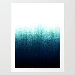 Teal Ombré Art Print
