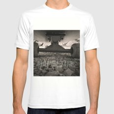 Never stop skating Mens Fitted Tee White MEDIUM