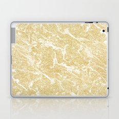 Modern faux gold glitter stylish marble effect Laptop & iPad Skin