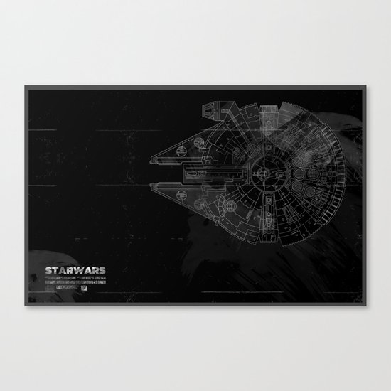 Millenium Falcon Canvas Print