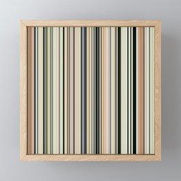 HIGH SOCIETY VINTAGE BEACH STRIPES 002 Framed Mini Art Print