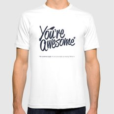You're Awesome White Mens Fitted Tee MEDIUM