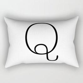 Letter Q Typewriting Rectangular Pillow