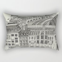 Retiro Train Station 1993 Rectangular Pillow