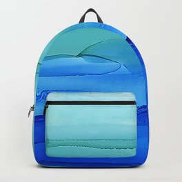 Alcohol Ink Seascape Backpack