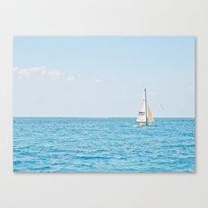 Solo Sailboat Canvas Print