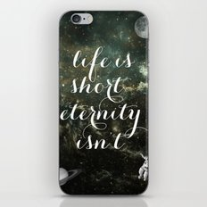 Vintage Quotes Collection -- Life Is Short Eternity Isn't iPhone & iPod Skin