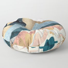 Golden Peaks Floor Pillow