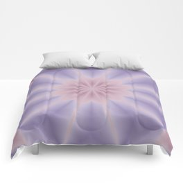 Pink and Lilac 3D Flower Three Comforters