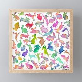 Watercolour Bunnies Framed Mini Art Print