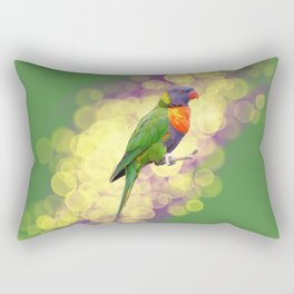 Rainbow Lorikeet Rectangular Pillow