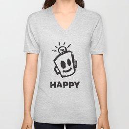 HAPPY  Unisex V-Neck