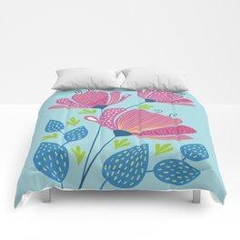 Pink summerflowers Comforters