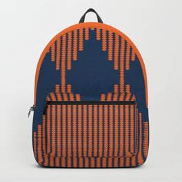 Moon Phases Pattern in Navy Blue and Burnt Orange Backpack