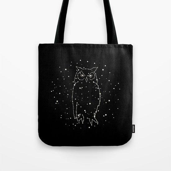 Owl Constellation  Tote Bag