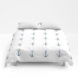 Nautical Marine Anchor Retro Seamless Pattern Comforters