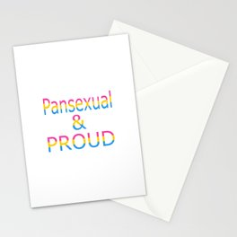 Pansexual and Proud (white bg) Stationery Cards