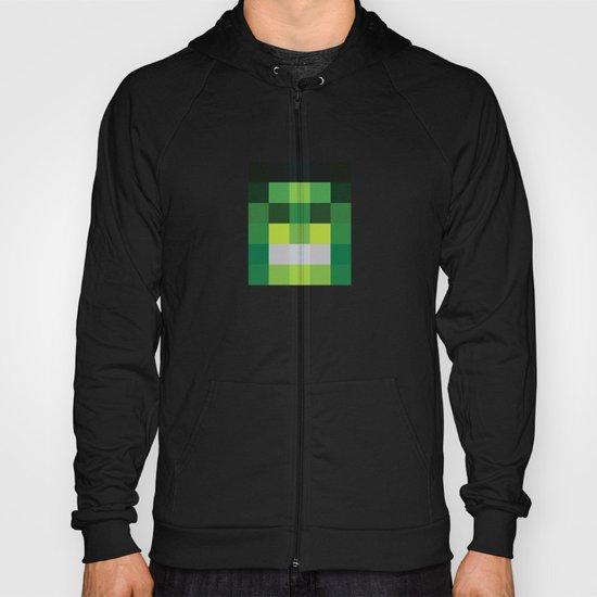 hero pixel green black Hoody